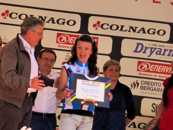 17 Maggio 2015:Irina alla premiazione della 'Colnago' a Desenzano del Garda (Bs)