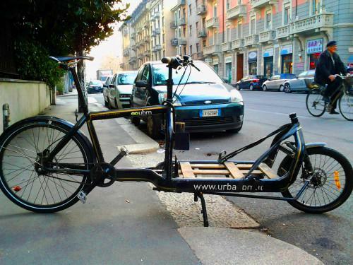 Milano: bici per trasporto merci